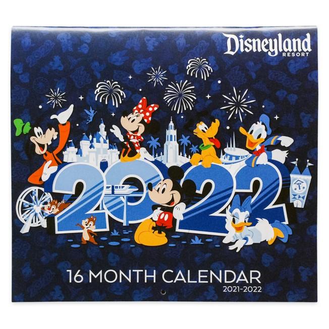Disneyland 16 Month Calendar 2021-2022