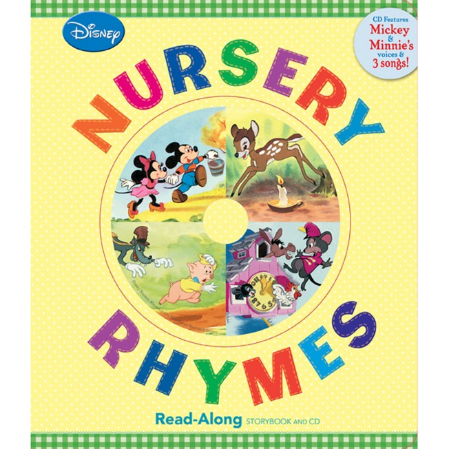 Nursery Rhymes Song-Along Book and CD – Mickey Mouse