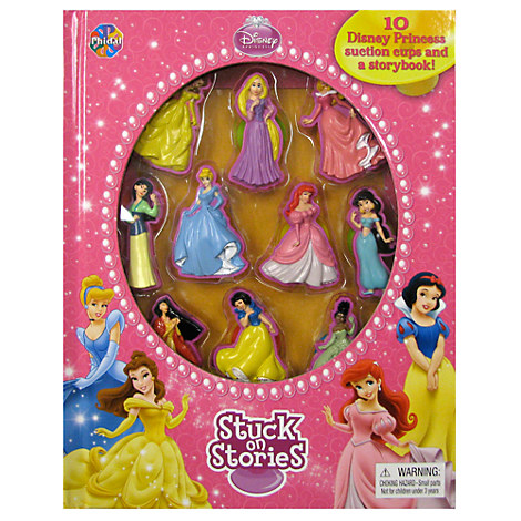 Disney Princess Stuck On Stories Book and Playset