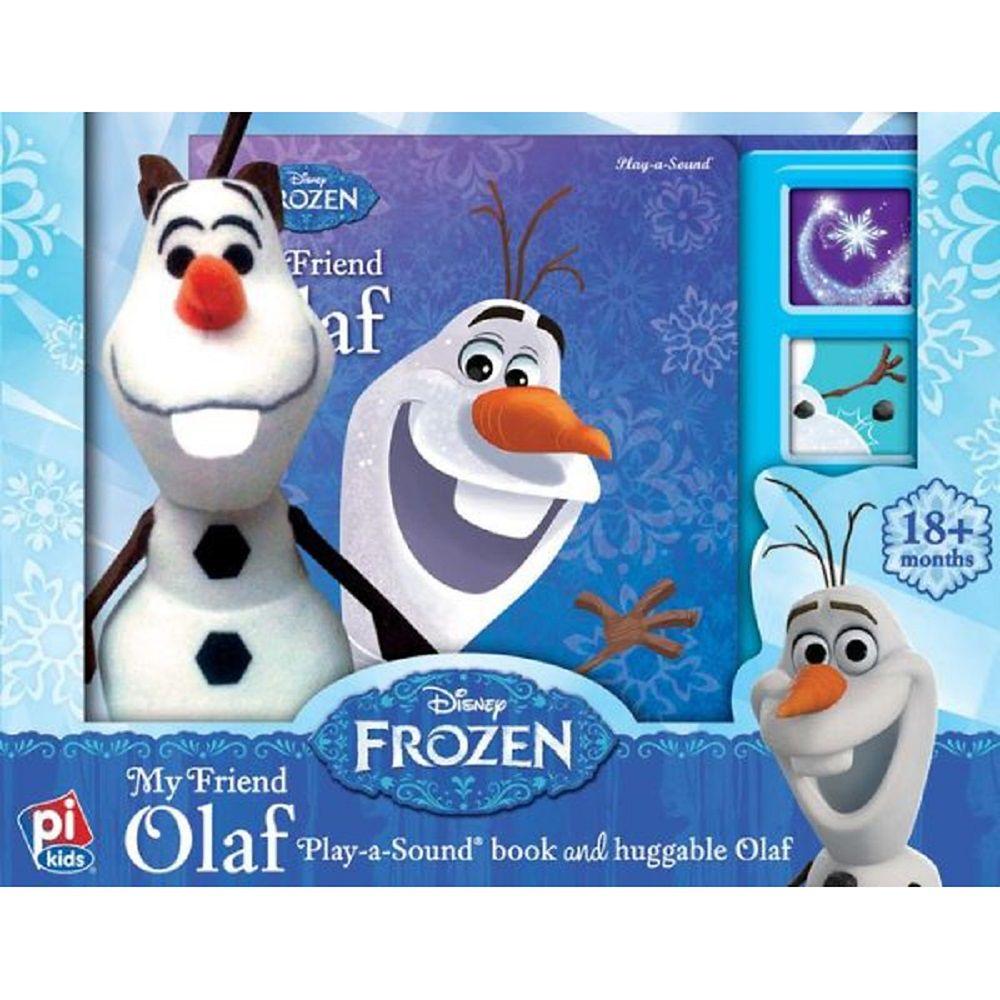 Olaf Play-a-Sound book and Huggable Olaf