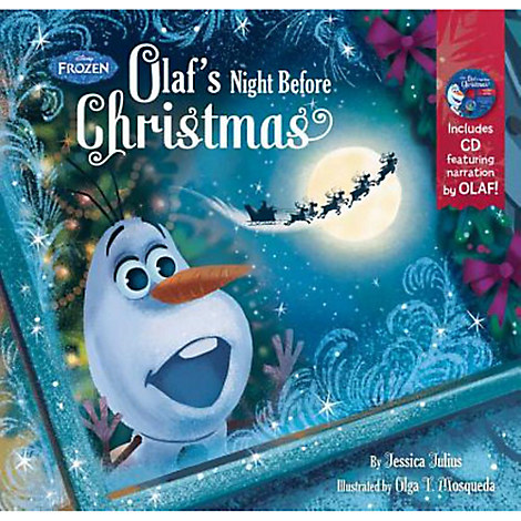 Olaf's Night Before Christmas Book and CD