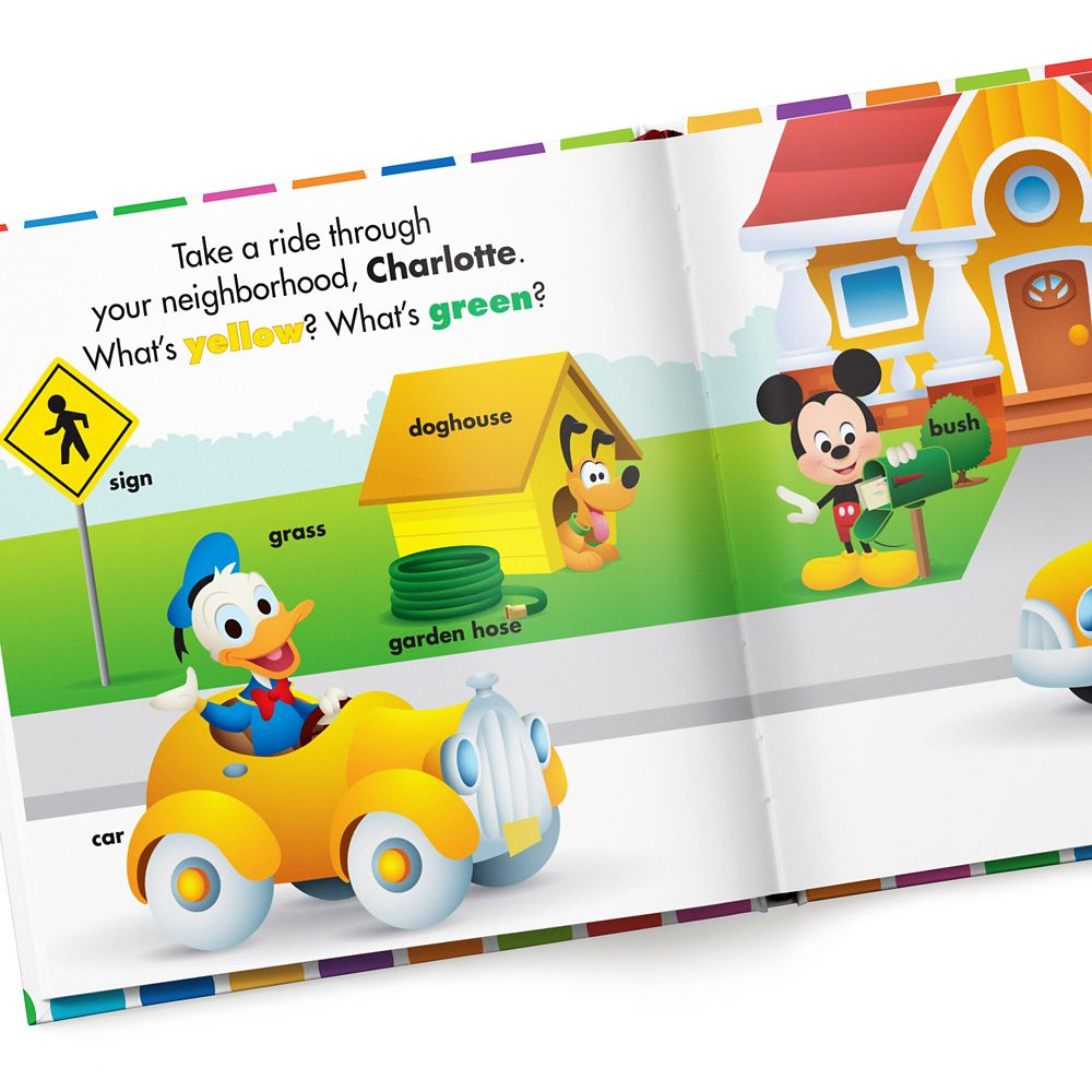 Disney Baby: Your First Colors Book – Paperback – Personalizable