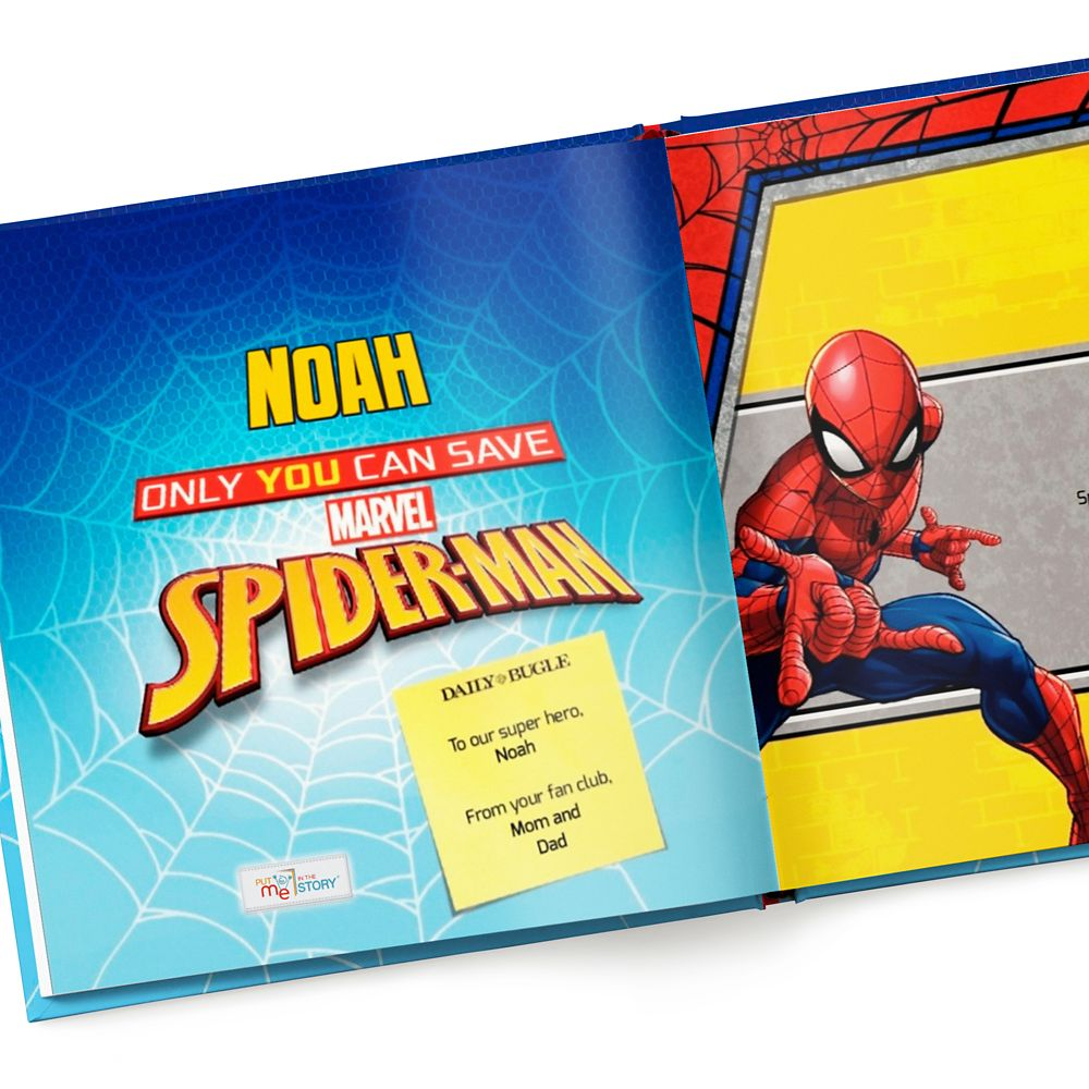 Only You Can Save Spider-Man Book – Hardback – Personalizable