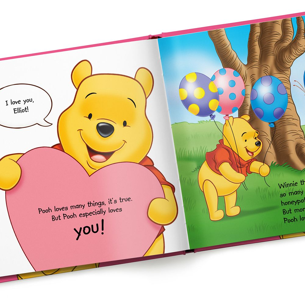 Winnie the Pooh: Pooh Loves You Book – Hardback – Personalizable