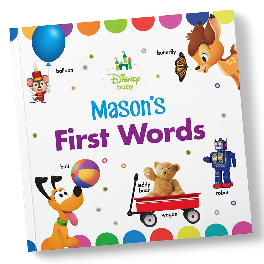 Disney Baby: Your First Words Book  Paperback  Personalizable