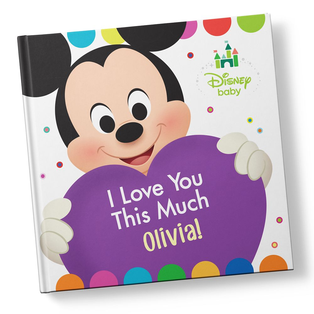Disney Baby: I Love You This Much Book – Hardback – Personalizable