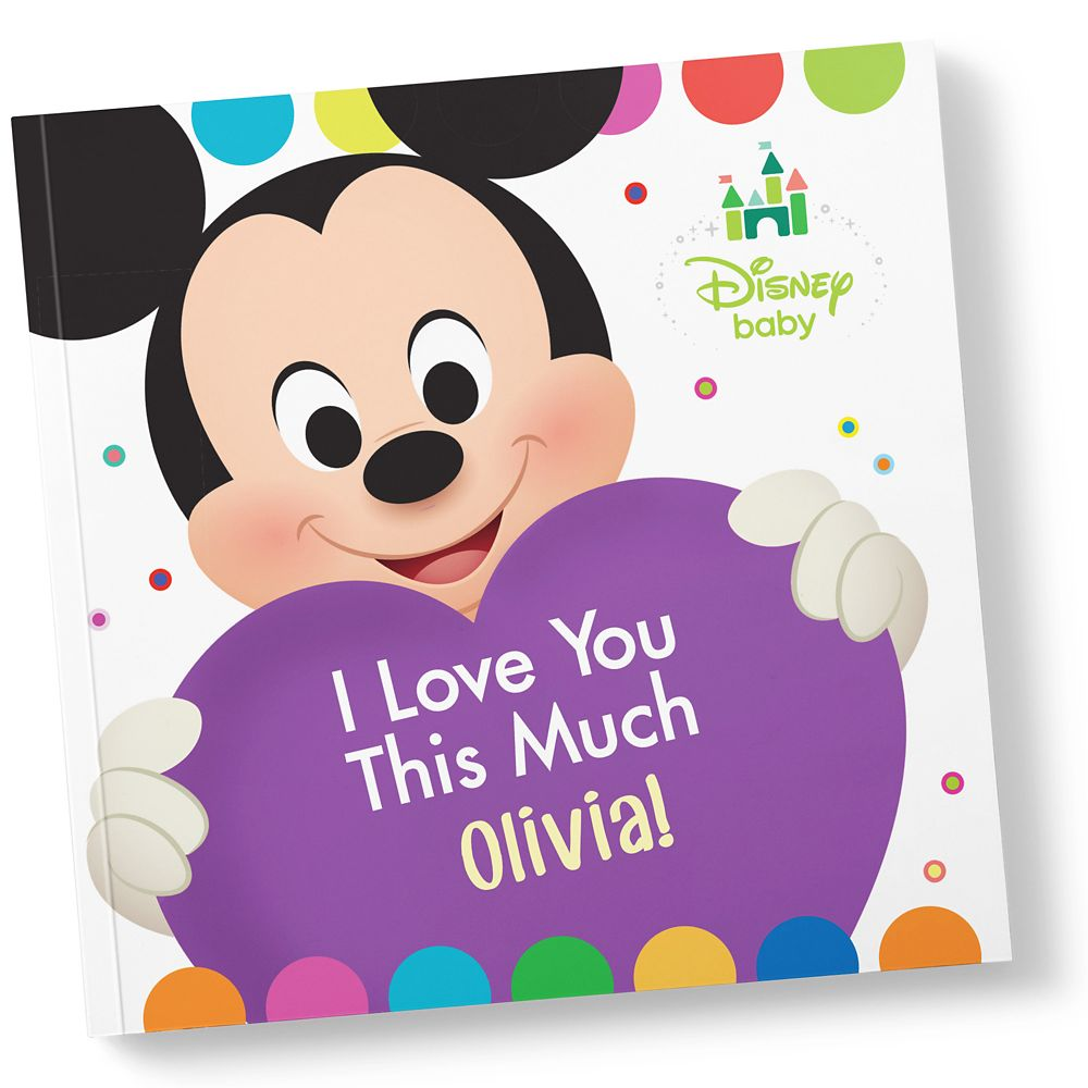 Disney Baby: I Love You This Much Book – Paperback – Personalizable