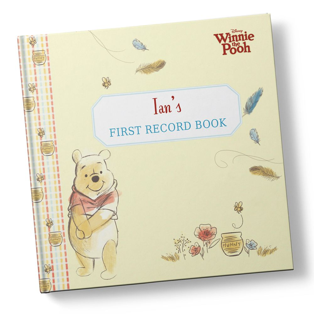 Winnie the Pooh: Baby's First Record Book  Hardback  Personalizable Official shopDisney