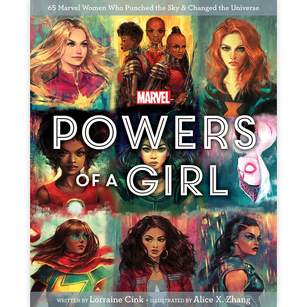 35 Amazing Marvel Gift Ideas featured by top US Disney blogger, Marcie and the Mouse: Marvel Powers of a Girl Book Official shopDisney