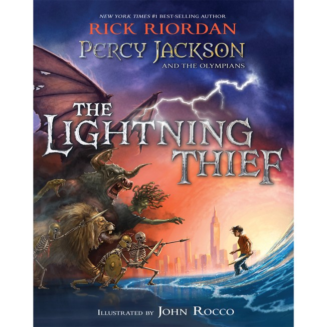 Percy Jackson and the Olympians: The Lightning Thief Book – Illustrated Edition