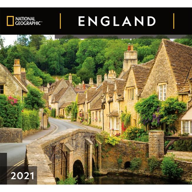 National Geographic 2021 England Wall Calendar