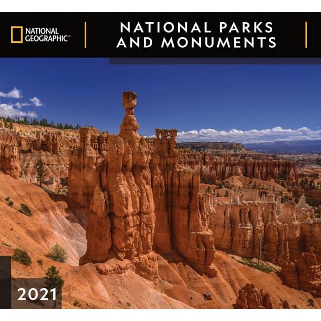 National Geographic 2021 National Parks and Monuments Wall Calendar