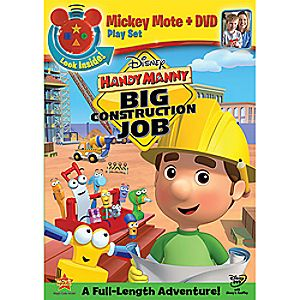 Handy Manny: Big Construction Job with Mickey Mote Toy DVD 7745055550146P