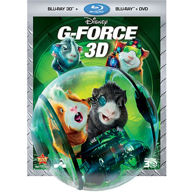 G-Force Blu-ray 3D, Blu-ray and DVD