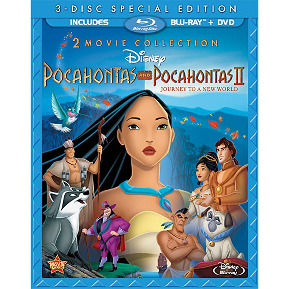 Pocahontas and Pocahontas II  3-Disc Combo Pack Official shopDisney