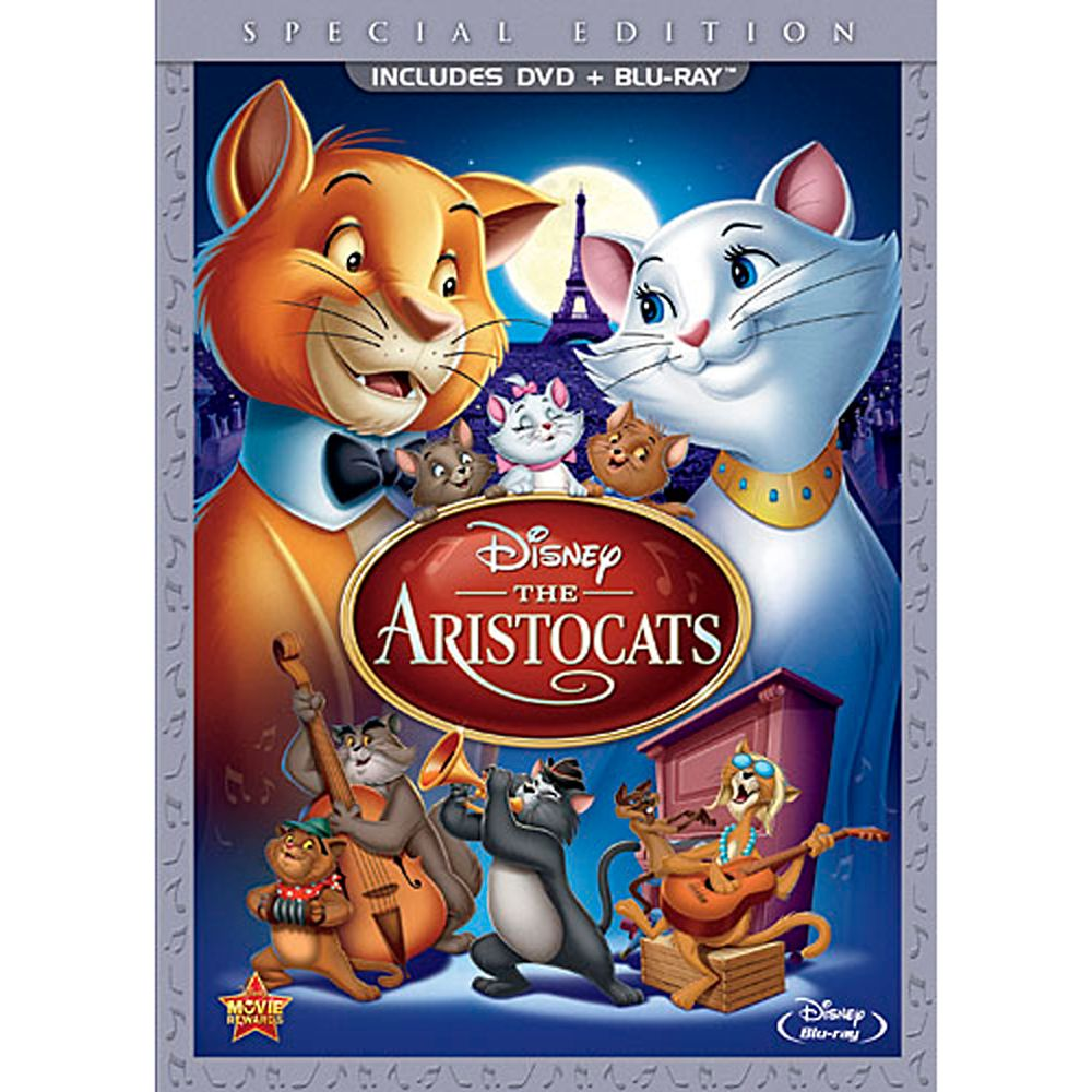 The Aristocats  2-Disc Combo Pack  DVD Packaging Official shopDisney
