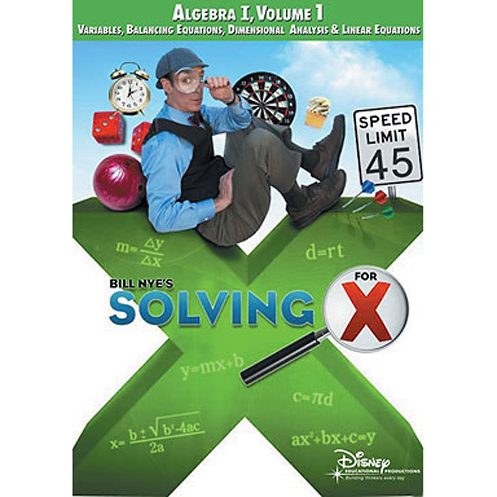 Bill Nye's Solving For X: Algebra Volume 1 DVD