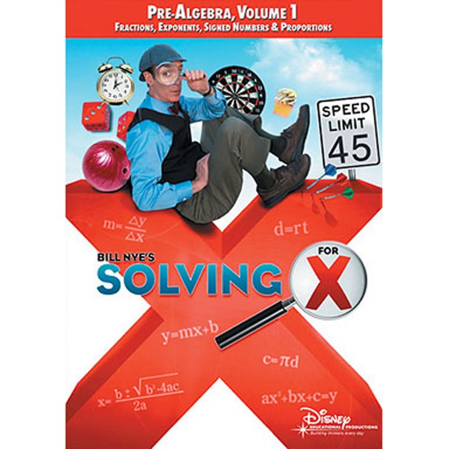 Bill Nye's Solving for X: Pre-Algebra, Volume 1 DVD