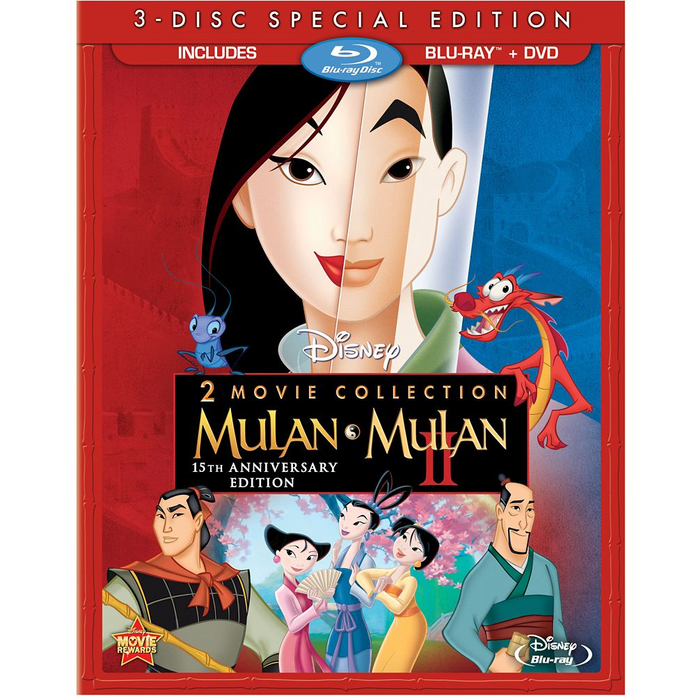 Mulan 15th Anniversary Blu-ray and DVD Combo Pack Official shopDisney