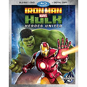Iron Man and Hulk: Heroes United Blu-ray 2-Disc Combo Pack 7745055551155P