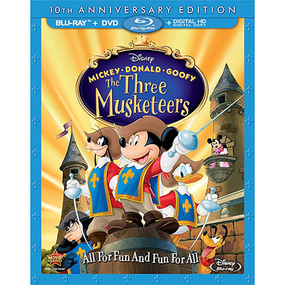 Mickey Donald Goofy The Three Musketeers Blu Ray 10th Anniversary Edition Shopdisney