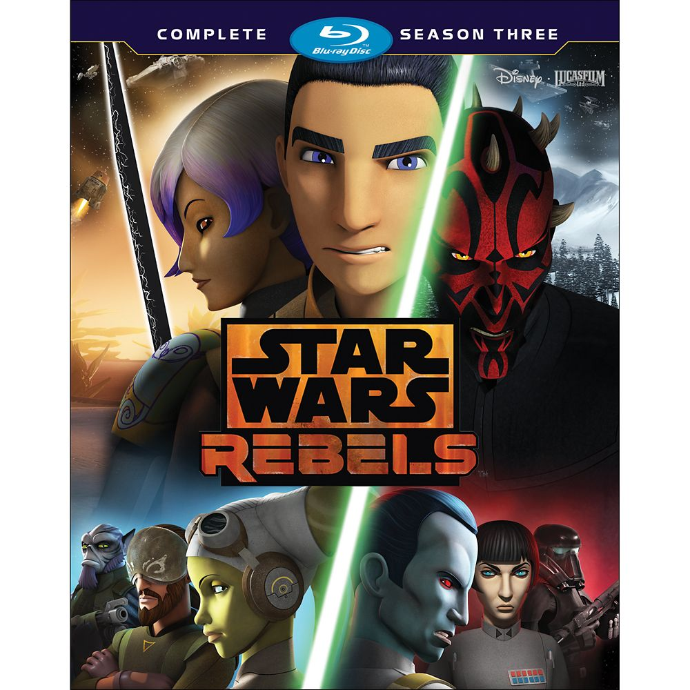 Star Wars Rebels Season Three 3-Disc Blu-ray Official shopDisney
