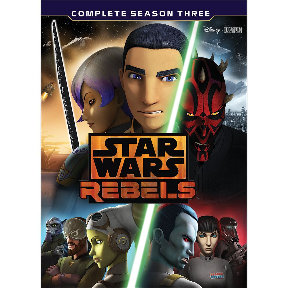 Star Wars Rebels Season Three 4-Disc DVD