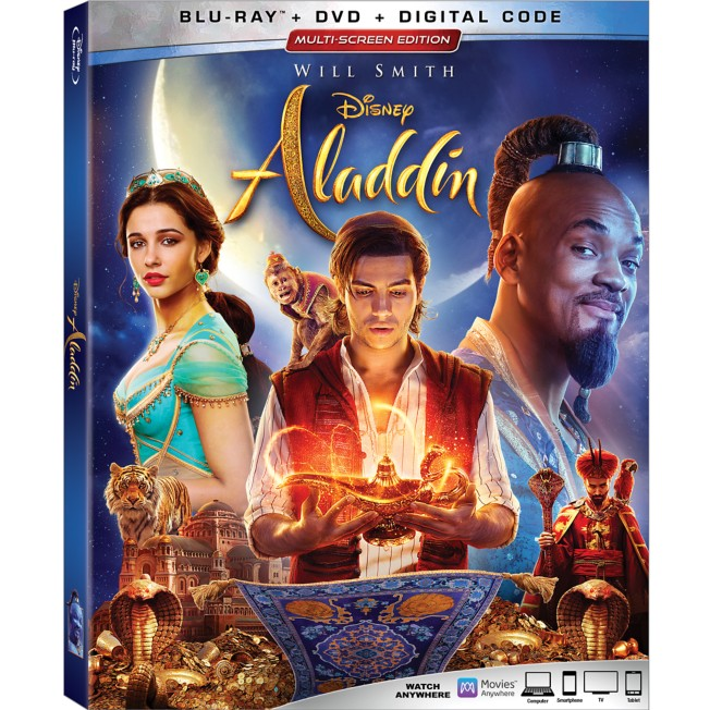 Aladdin Live Action Film Blu-ray Combo Pack Multi-Screen Edition