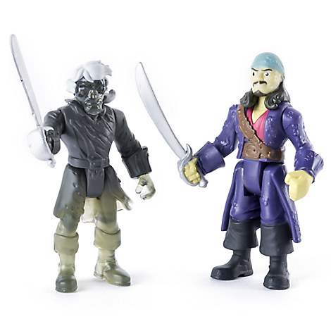 Will Turner vs. Ghost Crewman Action Figure Set - Pirates of the Caribbean: Dead Men Tell No Tales - 3''