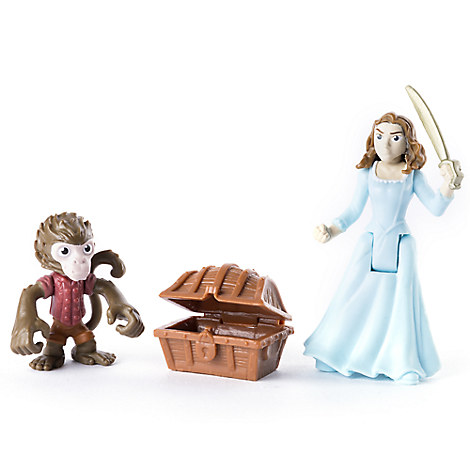 Carina Smyth and Jack the Monkey Action Figure Set - Pirates of the Caribbean: Dead Men Tell No Tales - 3''