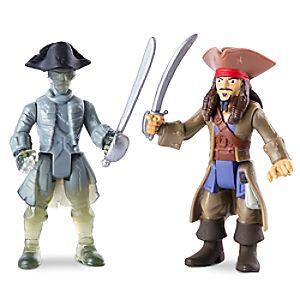 Disney Store Jack Sparrow Vs. Ghost Crewman Action Figure Set  -