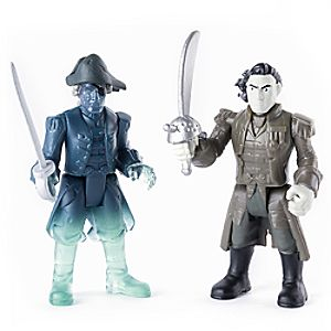 Captain Salazar and Ghost Crewman Action Figure Set - Pirates of the Caribbean: Dead Men Tell No Tales - 3'' 778988607480P