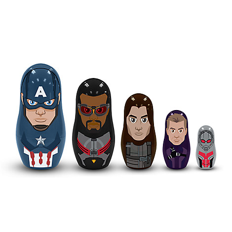 Captain America Team Nesting Dolls - Captain America: Civil War