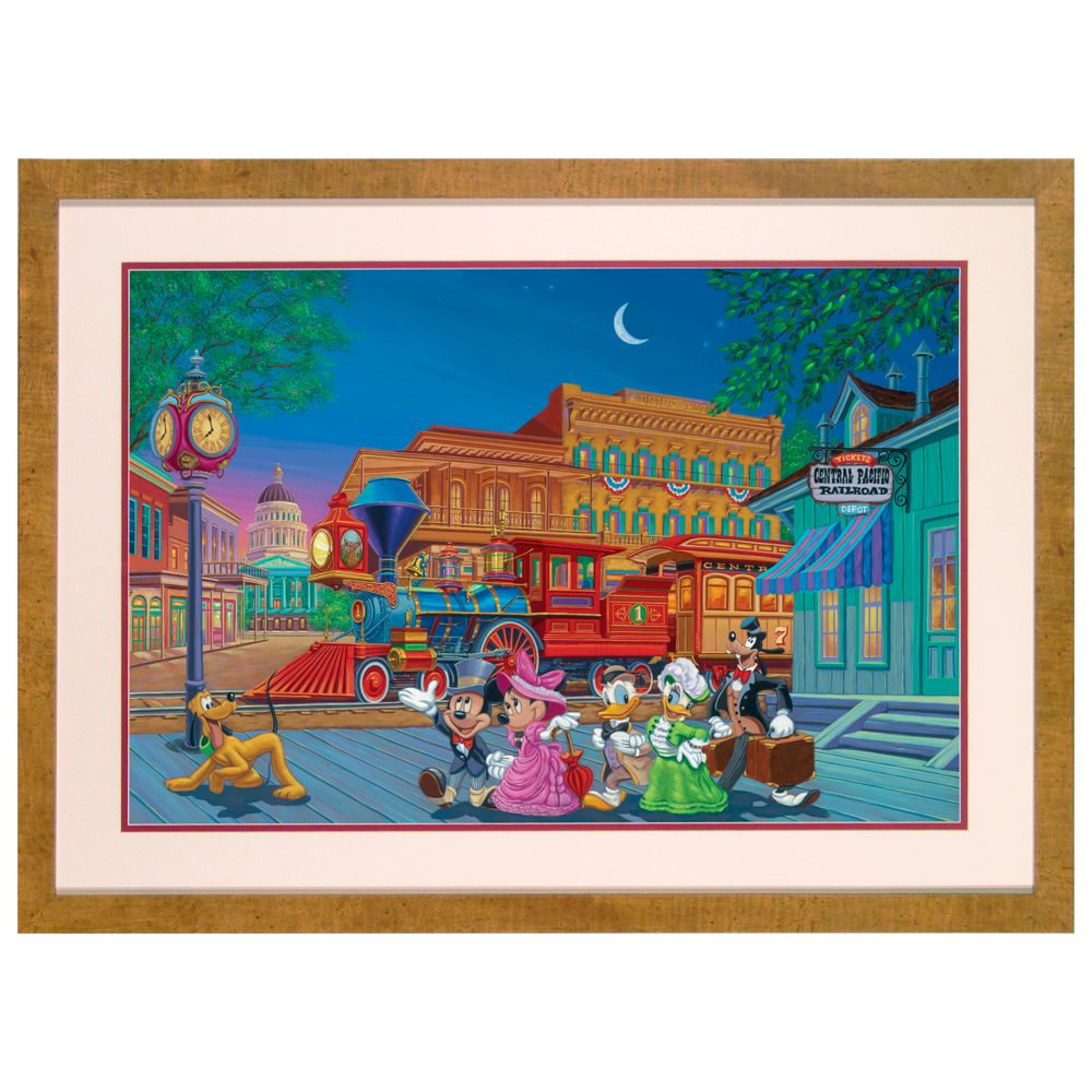 Mickey Mouse ''Arriving in Style'' Lithograph by Manuel Hernandez