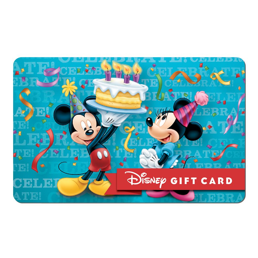 Birthday Wishes Disney Gift Card