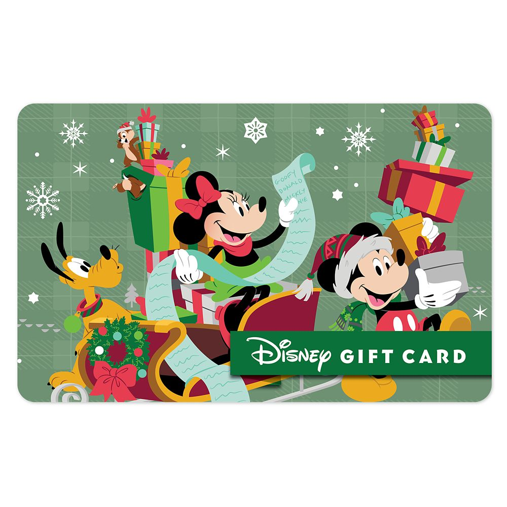 Mickey's Nice List Disney Gift Card
