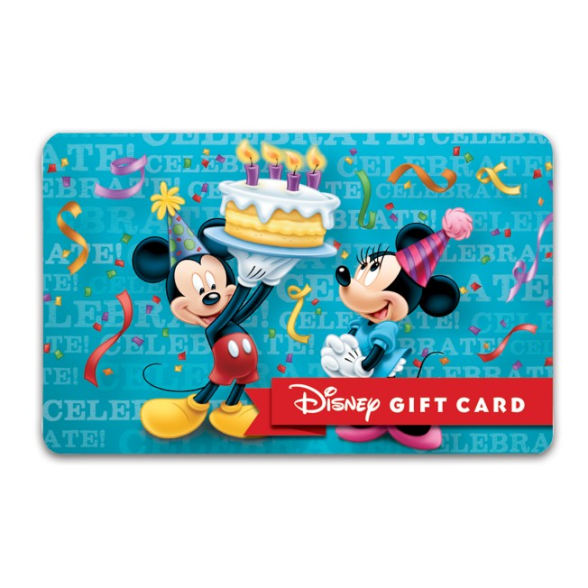 Birthday Wishes Disney Gift Card