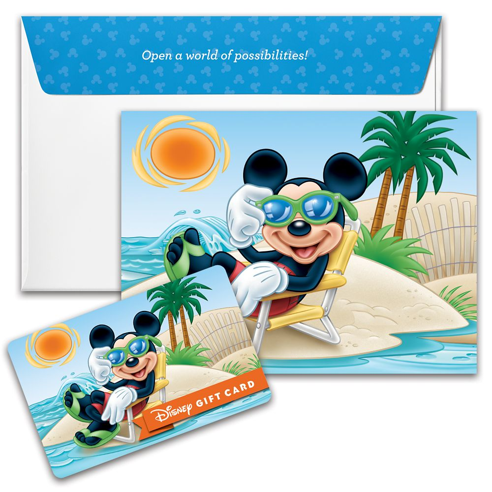 Mickey Mouse Sunbathing Disney Gift Card