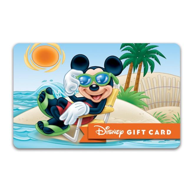 Mickey Mouse Sunbathing Disney Gift Card