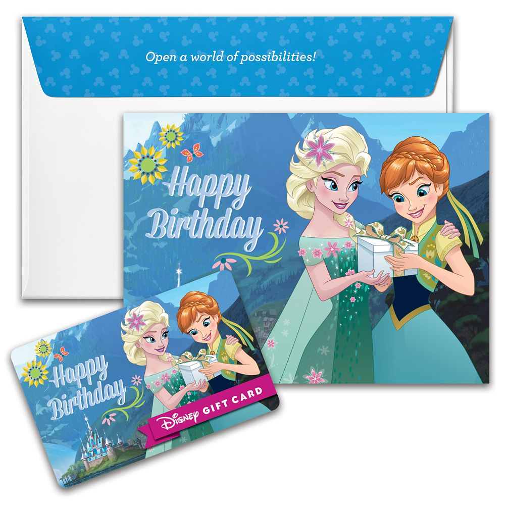 Frozen Happy Birthday Disney Gift Card