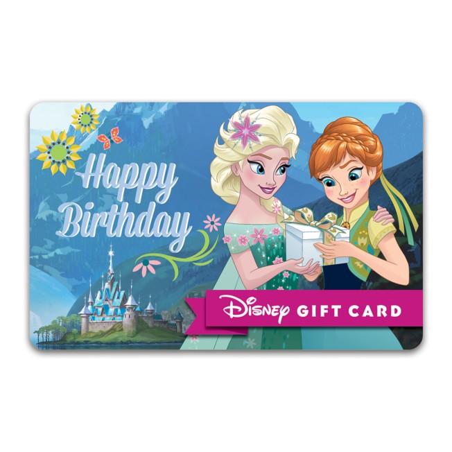 Frozen Happy Birthday Disney Gift Card