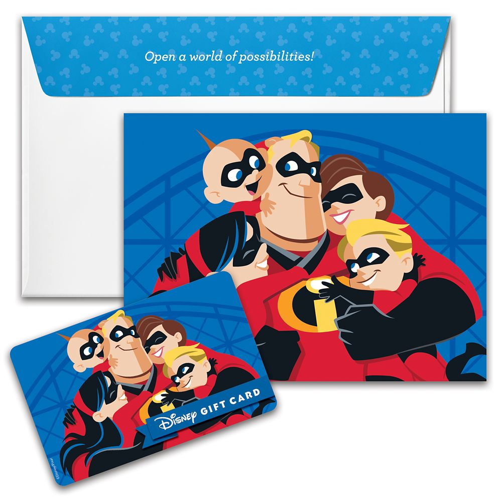 Incredibles Disney Gift Card