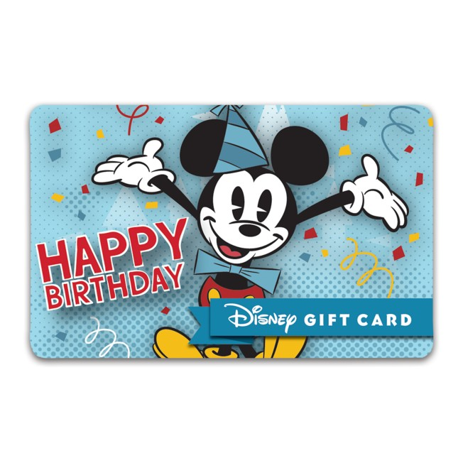 Mickey Mouse Birthday Disney Gift Card