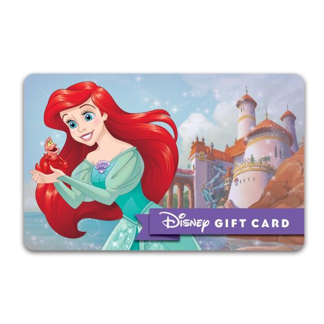 Ariel Disney Gift Card