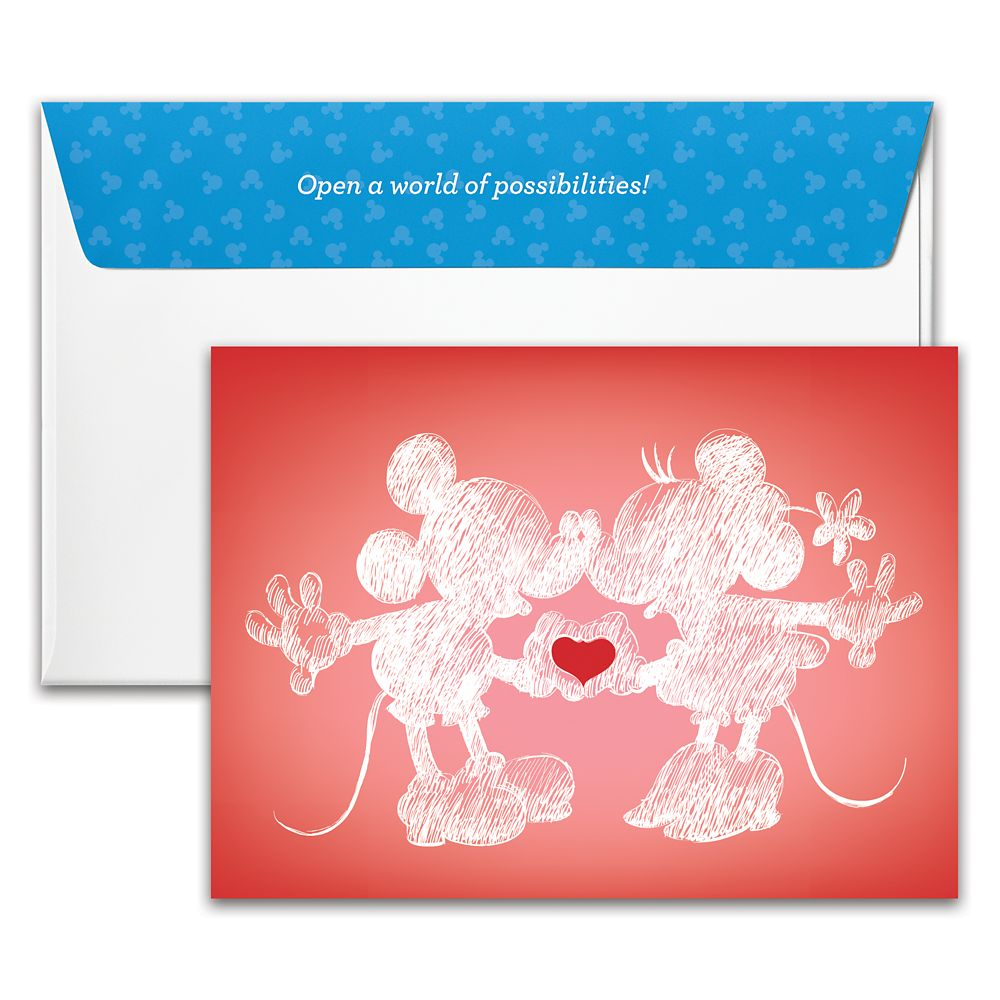 Mickey and Minnie Mouse Heart Hands Disney Gift Card