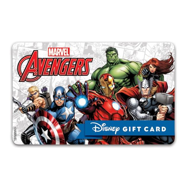 Avengers Disney Gift Card