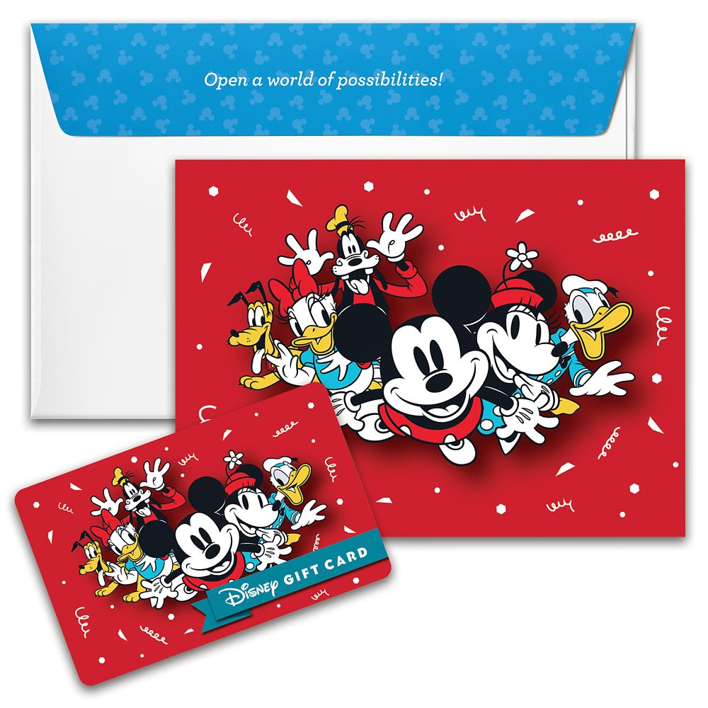 Mickey Mouse and Friends Disney Gift Card
