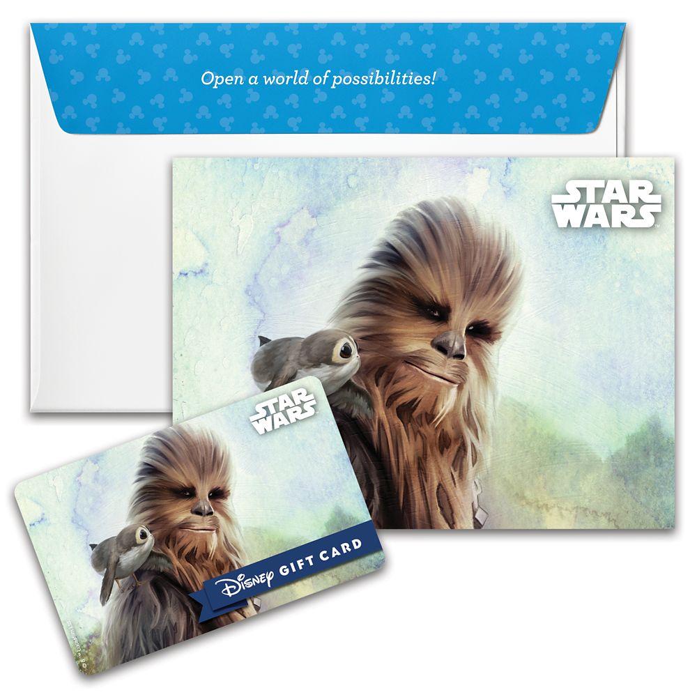Chewbacca and Porg Disney Gift Card – Star Wars