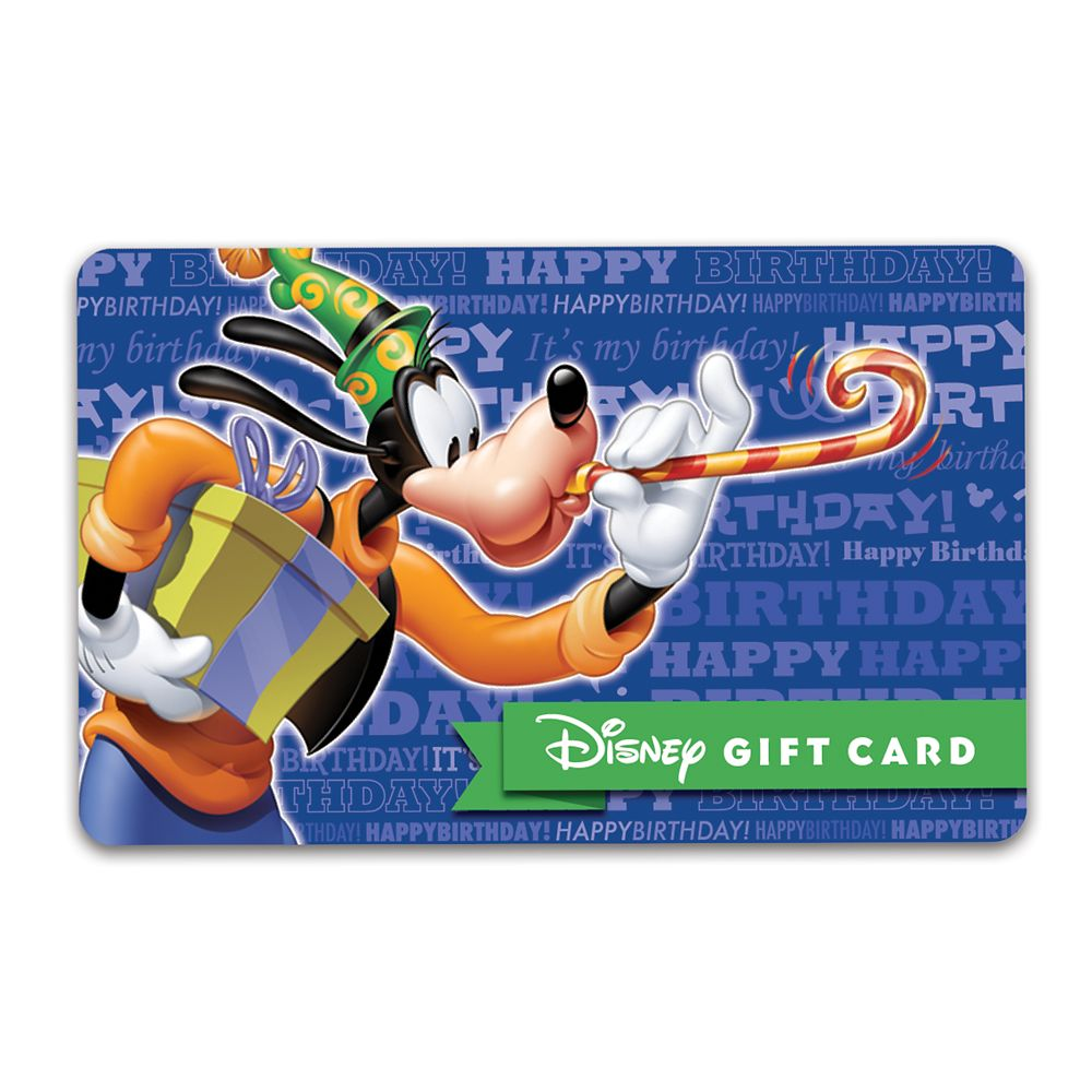 Goofy Birthday Disney Gift Card