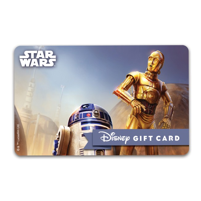 R2-D2 and C-3PO Disney Gift Card – Star Wars